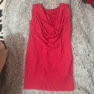 Hot Pink drape back sheath dress